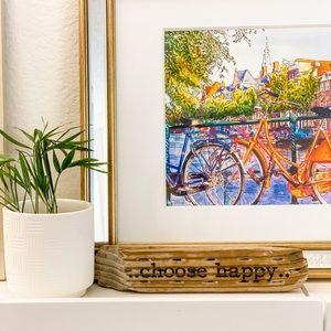 None Accents - Choose Happy Wood Decor